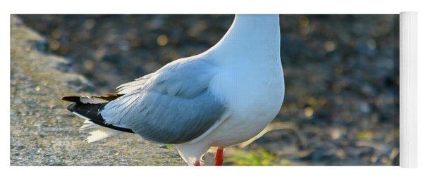 Seagull On The Breakwall Yoga Mat