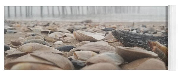 Yoga Mat featuring the photograph Seashells At The Pier by Robert Banach