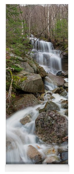 Seasonal Waterfall - Franconia Notch, New Hampshire Yoga Mat