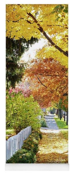 Seasons Sidewalk Stroll Yoga Mat