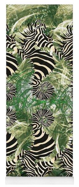 Seazebra Black N White On Green Yoga Mat