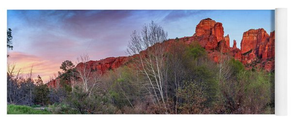 Sedona, Az - Worshiping At Sunset Yoga Mat