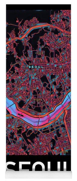Seoul City Map Yoga Mat