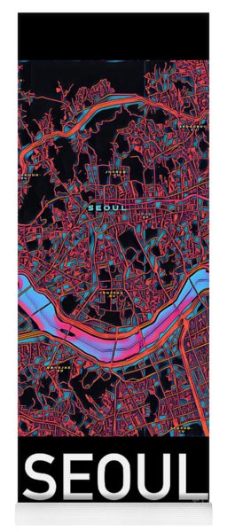 Seoul City Map Yoga Mat
