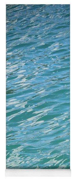 Shades Of Tropical Blue Water Yoga Mat