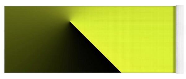 Yoga Mat featuring the digital art Shades Of Yellow In Rotational Gradient by Bill Swartwout Fine Art Photography