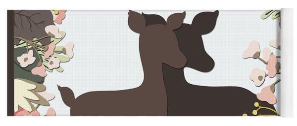Shadowbox Deer Yoga Mat
