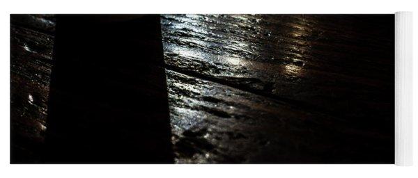 Shadows On A Wood Table Yoga Mat