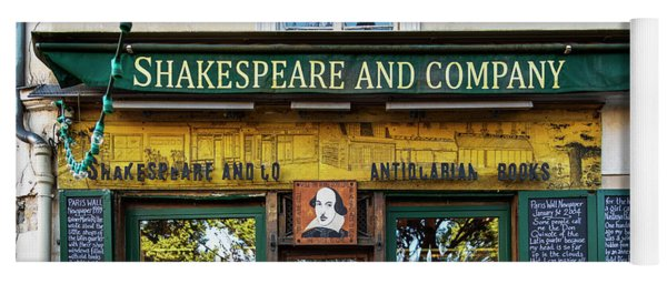 Shakespeare And Company Bookstore Yoga Mat