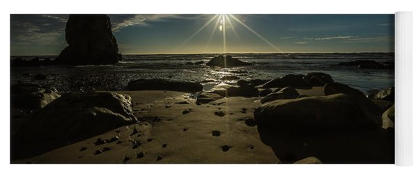 Shell Beach Sunburst Yoga Mat
