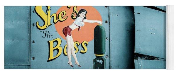 She's The Boss, World War 2 Navy Avenger Torpedo Bomber Yoga Mat