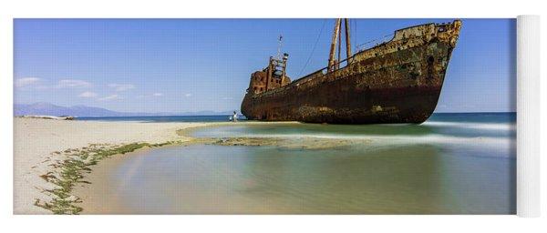 Shipwreck Dimitros Near Gythio, Greece Yoga Mat