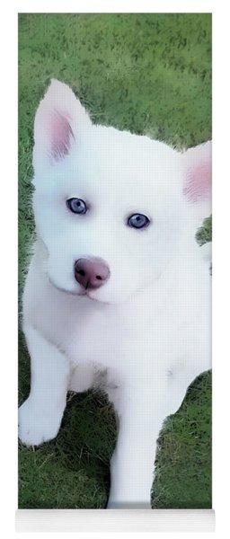 Siberian Husky Puppy A030619 Yoga Mat