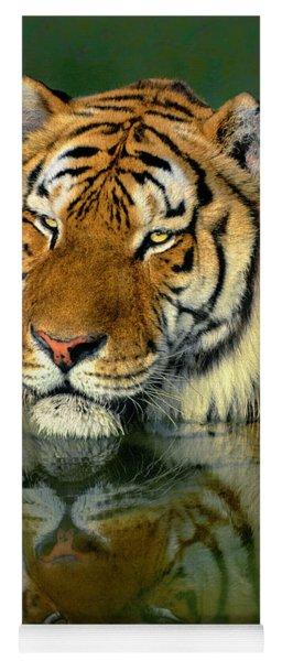 Siberian Tiger Reflection Wildlife Rescue Yoga Mat
