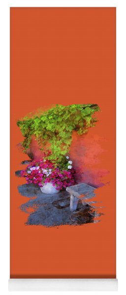 Yoga Mat featuring the photograph Sidewalk Floral In Brownsville by Thom Zehrfeld