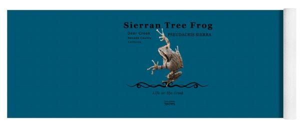 Sierran Tree Frog Pseudacris Sierra Yoga Mat