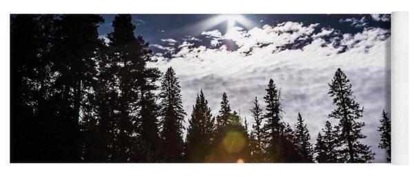 Silhouette Of Trees In San Juan Mountains Yoga Mat