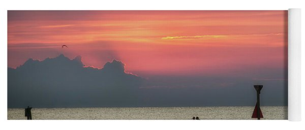 Silhouette's Sailing Into Sunset Yoga Mat