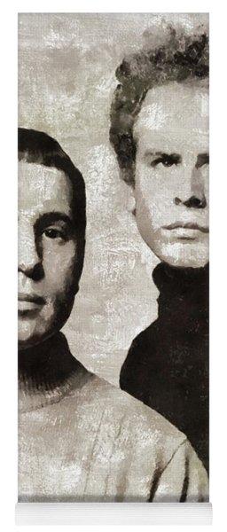 Simon And Garfunkel, Music Legends Yoga Mat