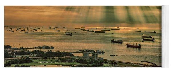 Singapore Harbour Yoga Mat