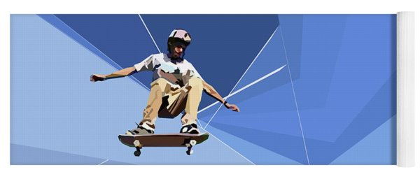 Skateboarder Yoga Mat