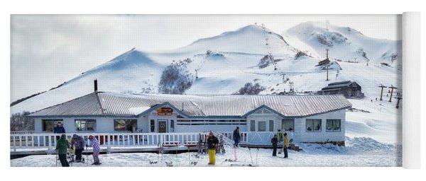 Yoga Mat featuring the photograph Ski Center On Top Of The Bayo Hill by Eduardo Jose Accorinti
