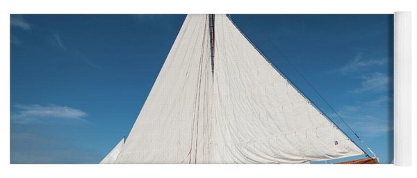 Yoga Mat featuring the photograph Skipjack Rosie Parks by Mark Duehmig