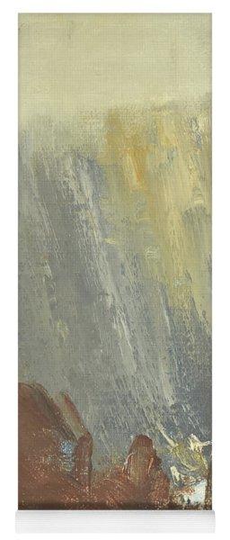Skogklaedd Fjaellvaegg I Hoestdimma- Mountain Side In Autumn Mist, Saelen _1237, 90x120 Cm Yoga Mat