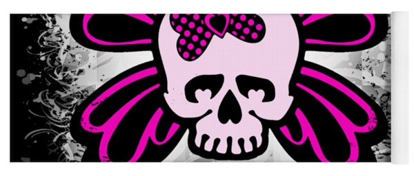 Skull Butterfly Graphic Yoga Mat