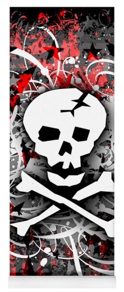 Skull Splatter Graphic Yoga Mat