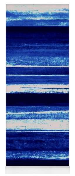 Skyscape-blue Abstract Yoga Mat