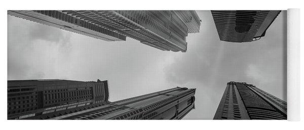 Skyscrapers Reach The Heaven Yoga Mat