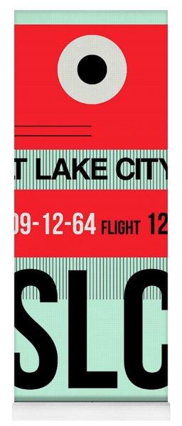 Slc Salt Lake City Luggage Tag I Yoga Mat
