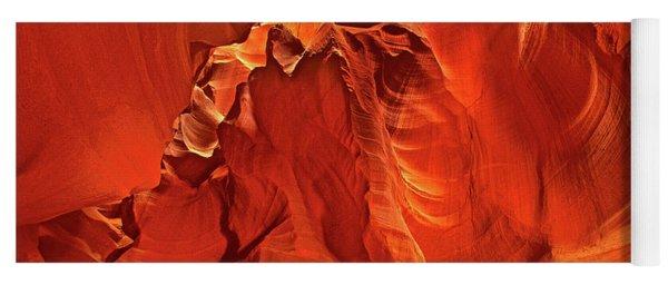 Slot Canyon Formations In Upper Antelope Canyon Arizona Yoga Mat