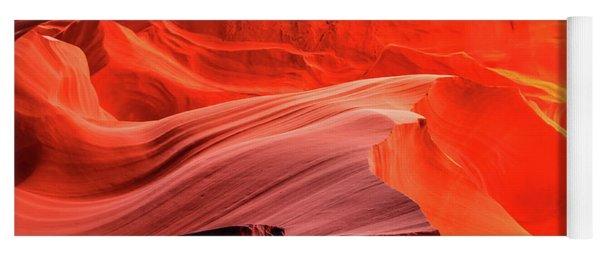 Slot Canyon Waves 1 Yoga Mat