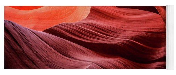 Slot Canyon Waves 2 Yoga Mat