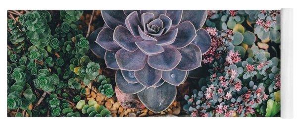 Small Succulent Garden Yoga Mat