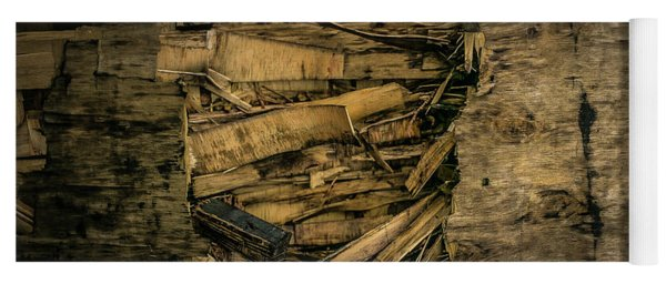 Smashed Wooden Wall Yoga Mat