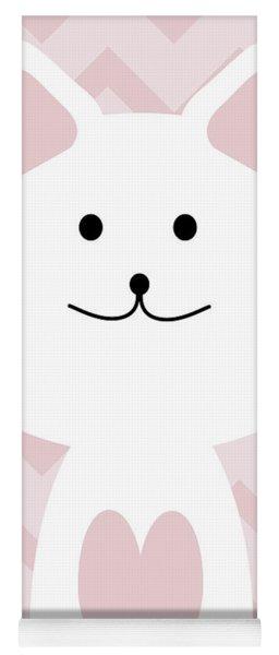 Smiling Cat Girl Nursery Art Yoga Mat