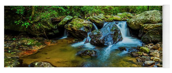 Yoga Mat featuring the photograph Smith Creek Cascade by Andy Crawford