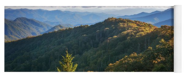 Yoga Mat featuring the photograph Smoky Mountains by Sharon Seaward
