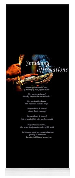 Smudging Affirmations Yoga Mat