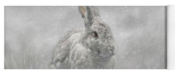 Snow Bunny Yoga Mat