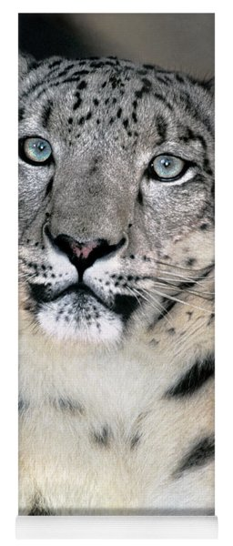 Snow Leopard Portrait Endangered Species Wildlife Rescue Yoga Mat
