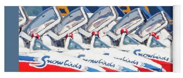 Snowbirds Open Cockpit Yoga Mat