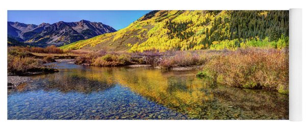 Yoga Mat featuring the photograph Snowmass Creek by Joe Sparks