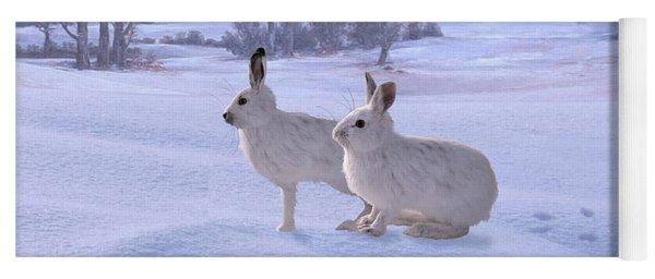 Snowshoe Hares Yoga Mat