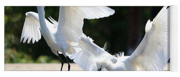 Snowy Egrets Drama Yoga Mat