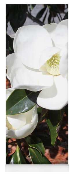 Snowy White Gardenia Blossoms Yoga Mat