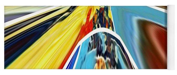 Yoga Mat featuring the digital art So Far Away by A zakaria Mami